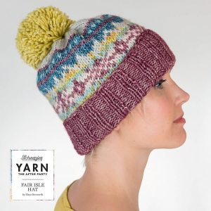 Number Four Scheepjes Knitted Fair Isle Hat Kit