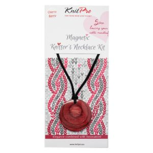 Knit Pro Magnetic Knitters Necklace Kit Cherry Berry